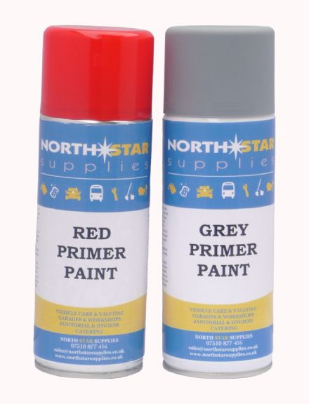 Primer Paint 400ml - Grey & Red Colour - North Star Supplies